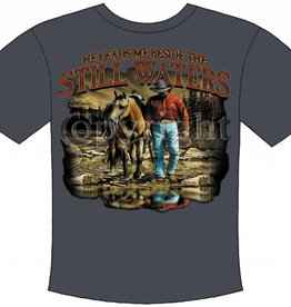 Western Express Still Waters T-Shirt Ash X-Large