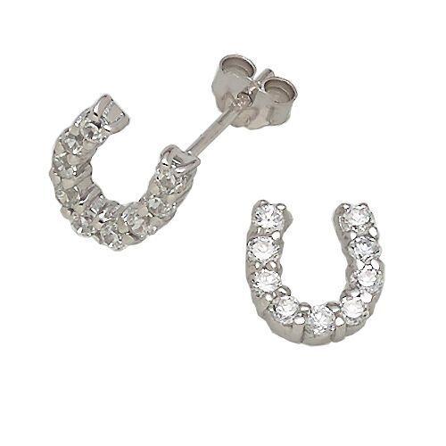 AWST International Earrings - Rhinestone Horseshoe