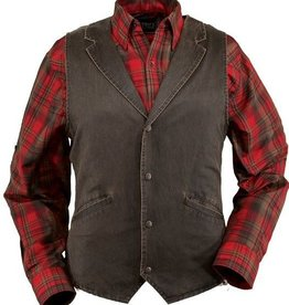 Outback Trading Company LTD Men's Arkansas Vest, Cotton, Snap Front, Hidden Breast Inside Pocket