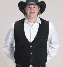 WEX Men's Western Trucker Denim Vest Black - Medium Only