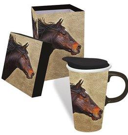 GT Reid Boxed Ceramic Mug 17 oz - Running Horse