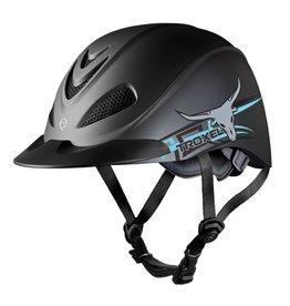 Troxel Helmet Company Troxel Rebel Western Helmet Styles Steer/Blue L