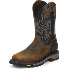 Justin Work Boots Men's Justin Tanker Black Steel Toe