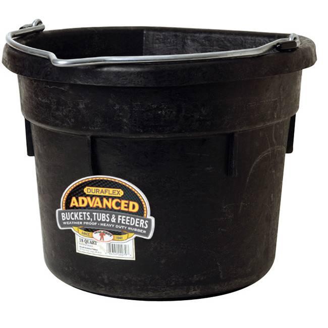 Little Giant Flatback Bucket Black - 18 Qt.