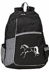 AWST Backpack - Black & Grey w/ Galloping Horse