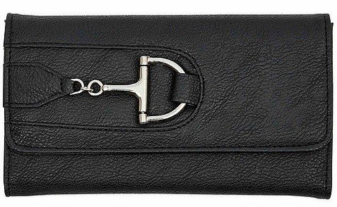 AWST International Wallet - Black Snaffle Bit