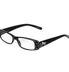 AWST International Reader Glasses, Black w/ D-Bit Design +1.50 mag