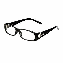 AWST International Reader Glasses, Black w/ D-Bit Design +1.50 mag