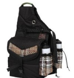 Kensington Protective Products, Inc. Kensington All Around Thermal Saddle Bag with Bottles - Black with Deluxe Black Plaid