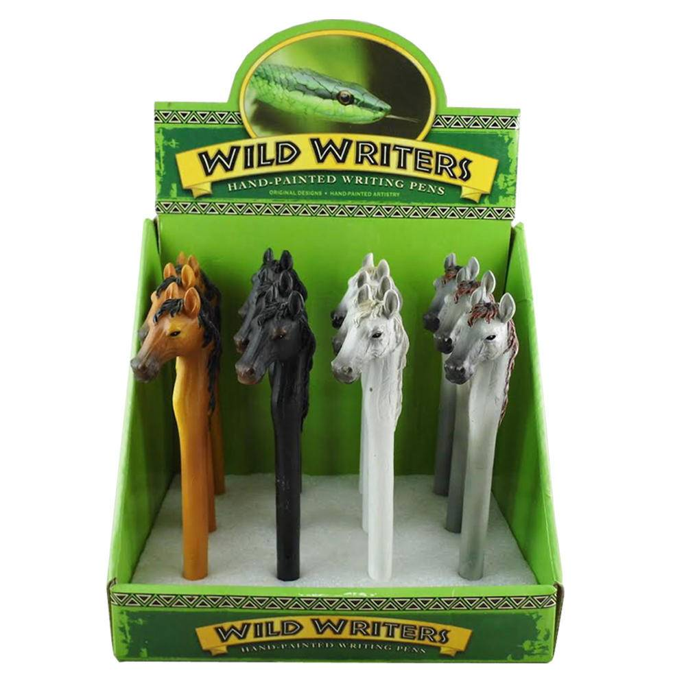 AWST Wild Writers Horse Head Pen single