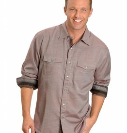 Scully Sportswear, INC Men's Scully Rust Diamond Dobby Snap Front Shirt  XL - Reg $79.95 @ 20% OFF!