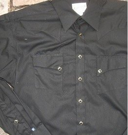 Rockmount Ranch Wear Men's Quarter Horse Solid Shirt Black - XL