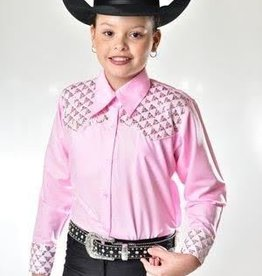 RHC Equestrian Royal Highness Children's RHE Show Shirt w/ Sequin Yoke