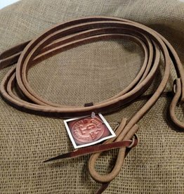 Circle L Circle L Split Leather Reins, Tie Ends, U.S.A. - 8' x 1/2""