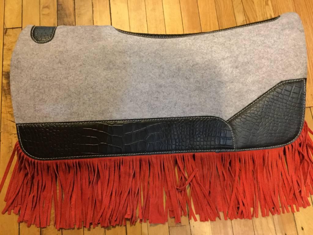 Circle L Circle L Felt Saddle Pad w/ Red Fringe - Reg $149.95 NOW $30 OFF!