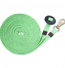 Tough-1 Flat Cotton Lunge Line - Lime