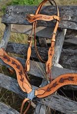 Alamo Saddlery Light Leather Arrow Tool Copper Paint Breast Collar