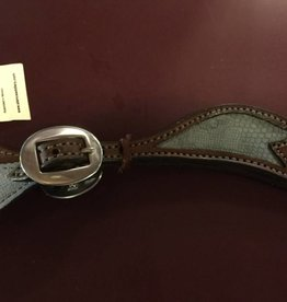 Alamo Saddlery Ladies Western Steel Grey Spur Straps