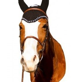 Equine Couture Fly Bonnet w/ Crystals - Navy
