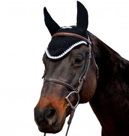 Equine Couture Fly Bonnet w/ Rope & Crystals - Navy