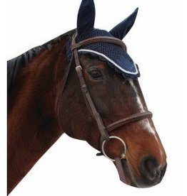 Equine Couture Fly Bonnet w/ Silver Rope