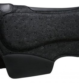 "Showman Showman™ 28"" x 31"" Airflow Felt Barrel Saddle Pad with Shock Foam Bars"