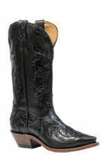 Boulet Western Boots INC. Women's Boulet Black Embossed Boots - Proudly Canadian!