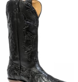 Boulet Western Women's Boulet Black Embossed Boots