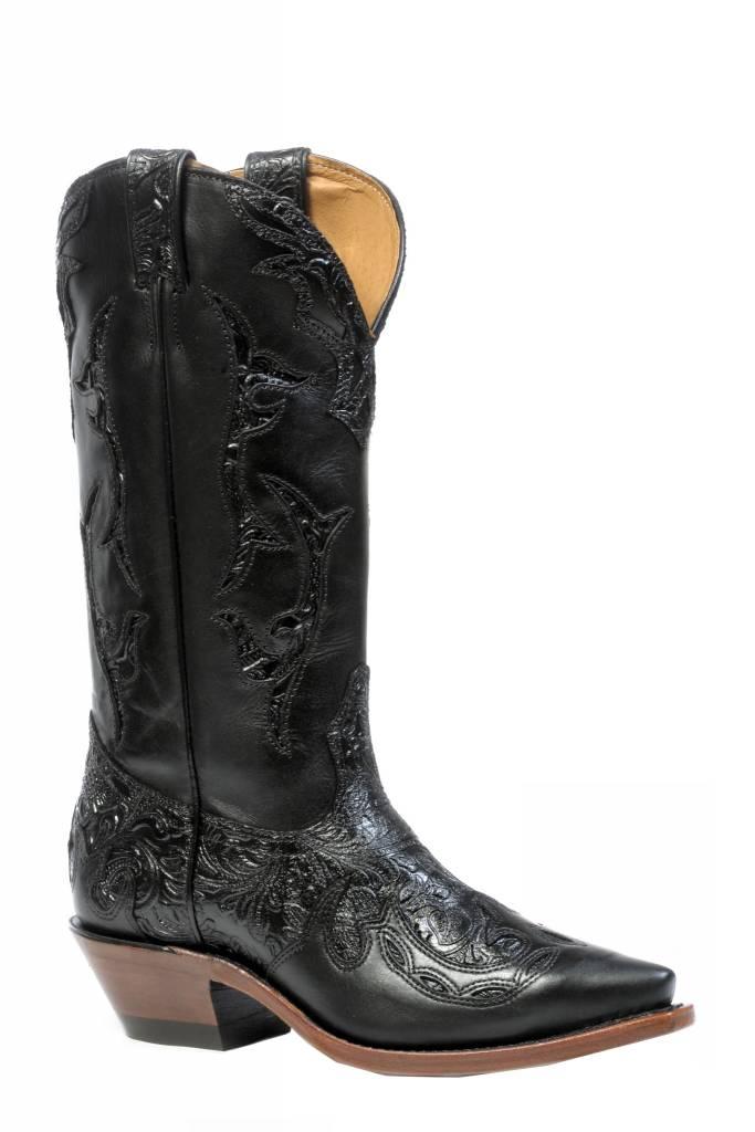 Boulet Western Women's Boulet Black Embossed Boots