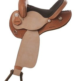 "Nash Leather, Inc. Nash Saddlery Bear Mountain Barrel Saddle - 16"" FQHB"