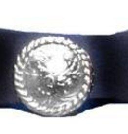 Western Express Hatband - 3 Conchos Black