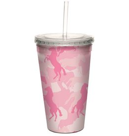 GT Reid Cool Cup & Straw - 16 oz. Horse Flag Pink