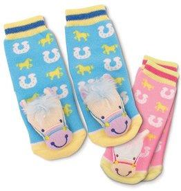 GT Reid Infant Baby Rattle Socks - Pink