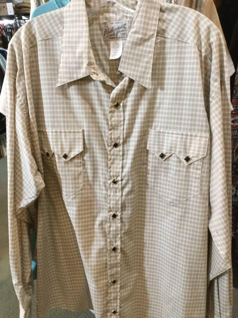 Rockmount Ranch Wear Men's Rockmount Western Pima Cotton Plaid Shirt - $86.95 @ 50% OFF! XXL