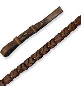 "Smith Worthington Saddlery Wexford Laced Reins - 1/2"" Black"