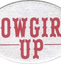 "WEX Trailer Hitch Cover Cowgirl Up - 3 1/2"" x 5"""