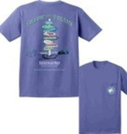 "Stirrups Clothing Equestrian Prep ""Follow Your Dreams"" T-Shirt - Blue"