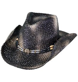 Outback Black Powder Straw Hat by Outback Trading