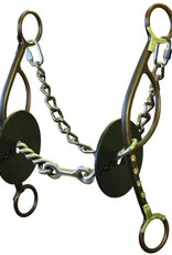 Circle Y Bit - Josey-Mitchell Long Shank Gag w/ Dog Bone