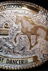 "Custom Engraved Crumrine Belt Buckle - 3-1/4""x4-1/4"""