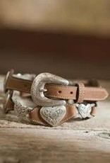 Brighton Accessories Adult - Linked Hearts Aged Bark