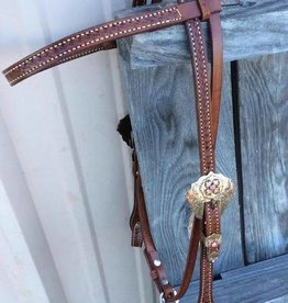 Alamo Saddlery Browband Headstall w/ Floral Buckle