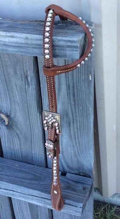 Alamo Saddlery One Ear Headstall w/ Fancy Buckle
