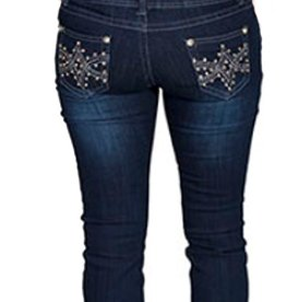 Scully Sportswear, INC Jeans w/Clear Stones 6