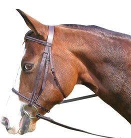 Plain Raised Work Bridle - Havanah Pony
