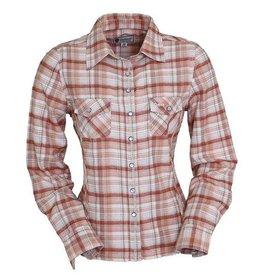 Outback Trading Company LTD Women's Outback Nutmeg Performance Shirt Burnt Orange 1X
