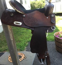"Double T Used Double T Barrel Saddle 16"" Seat, Semi QH Bars"