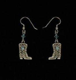 M & F Earrings - Blue Boots