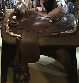 "Silver Royal Used Royal King Western Trail/Show Saddle with Silver- 16"" FQHB"