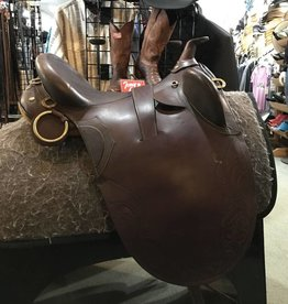 "Used Australian Stock Poley Outrider Saddle - 15-1/2"", Wide"